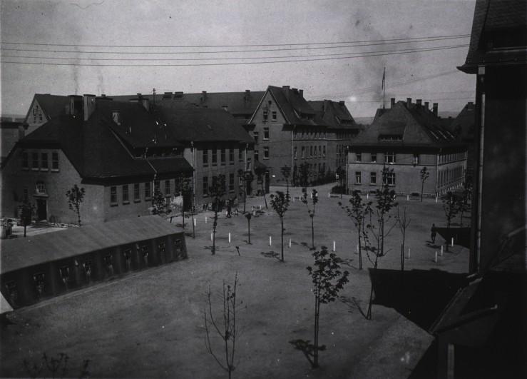 1 receiving ward and barracks